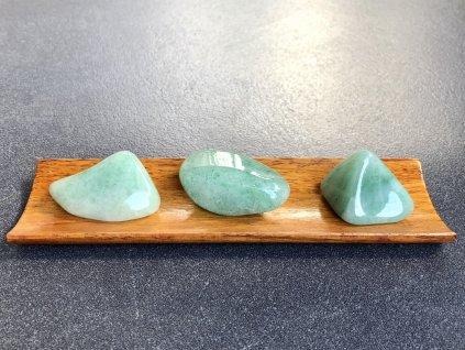 tromly z minerálů, avanturín zelený troml