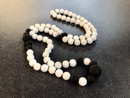 náhrdelníky z minerálů, láva náhrdelník