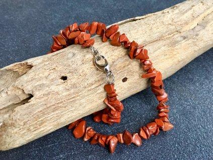 náhrdelníky z minerálů jaspis červený
