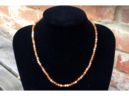 karneol náhrdelník