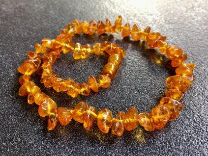 náhrdelníky z minerálů, jantar náhrdelník dětský