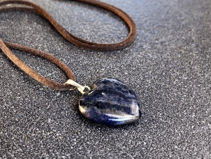 přívěsky z minerálů, sodalit přívěsek srdce
