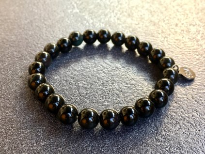 náramky z minerálů, obsidián černý náramek