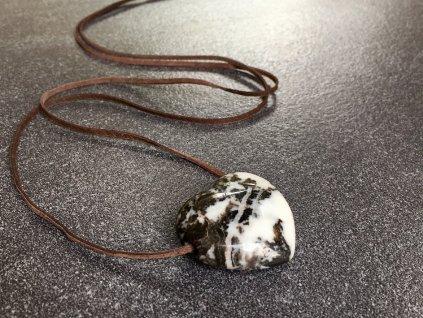 přívěsky z minerálů, jaspis zebra přívěsek srdce