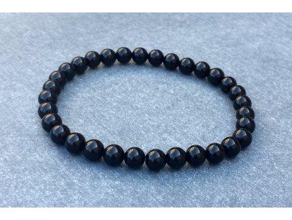 Onyx černý náramek kulička 6 mm