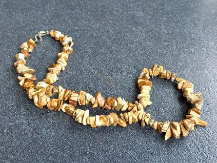 náhrdelníky z minerálů jaspis obrázkový