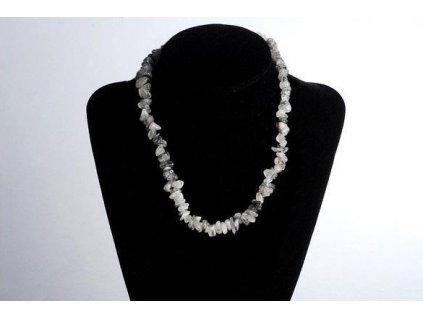 Křišťál s turmalínem náhrdelník