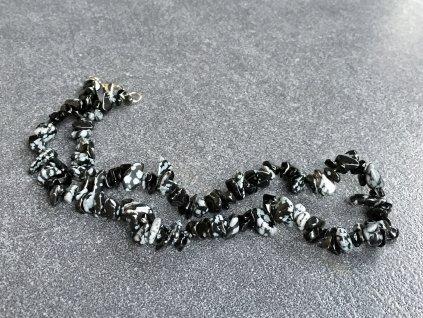 náhrdelníky z minerálů obsidián vločkový