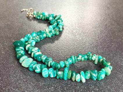 náhrdelníky z minerálů, amazonit náhrdelník