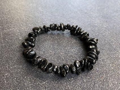 náramky z minerálů, turmalín černý náramek sekaný