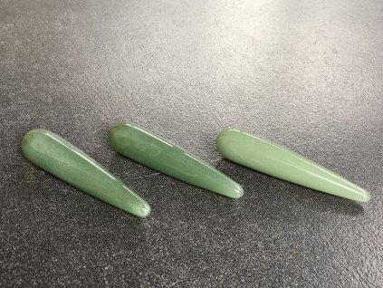 avanturín zelený masážní tyčka