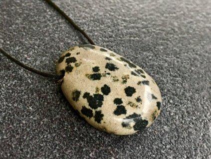 jaspis dalmatin přívěsek vrtaný
