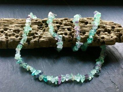 náhrdelníky z minerálů, fluorit náhrdelník