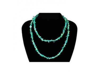 Apatit zelený náhrdelník 90 cm