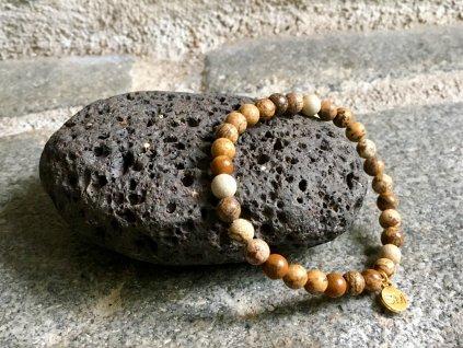 náramky z minerálů, jaspis obrázkový náramek