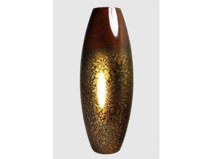 Dřevěná váza 40 cm - Thajsko