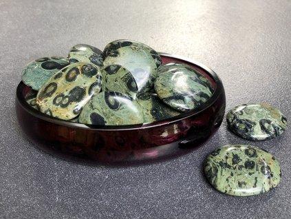 placičky z minerálů, jaspis kambaba placička