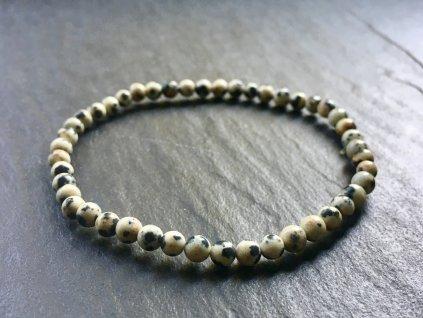 náramky z minerálů, Jaspis dalmatin náramek