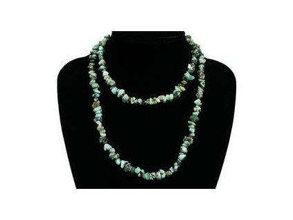 Larimar náhrdelník sekaný - 80 cm