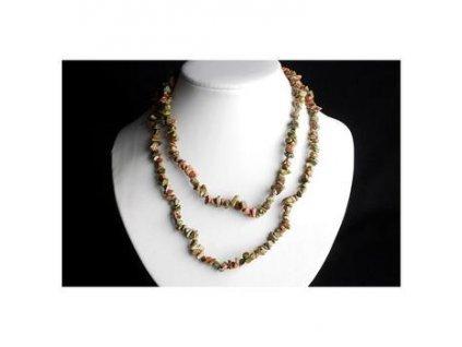 Unakit 80 cm náhrdelník sekaný