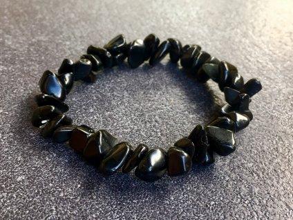 obsidián černý náramek