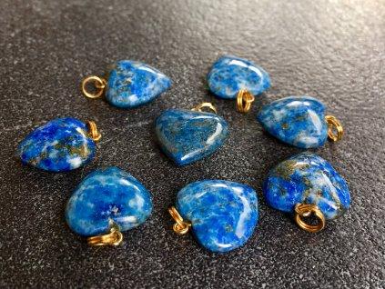 lapis lazuli přívěsek srdce