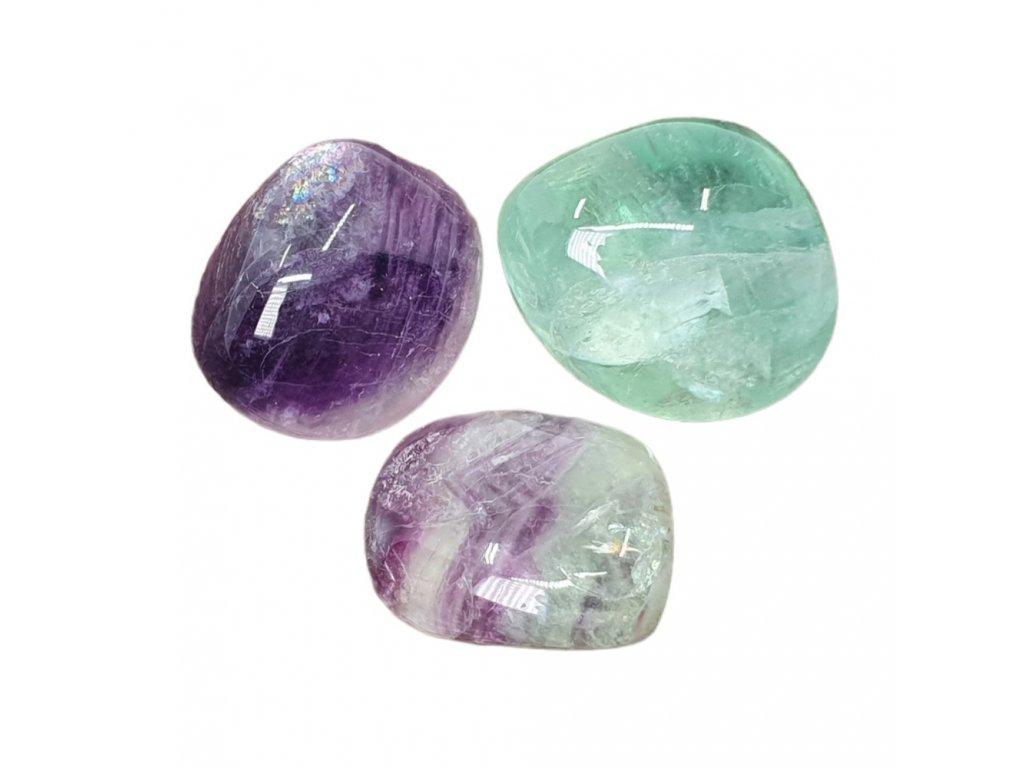 Fluorit dúhový kameň tromlovaný