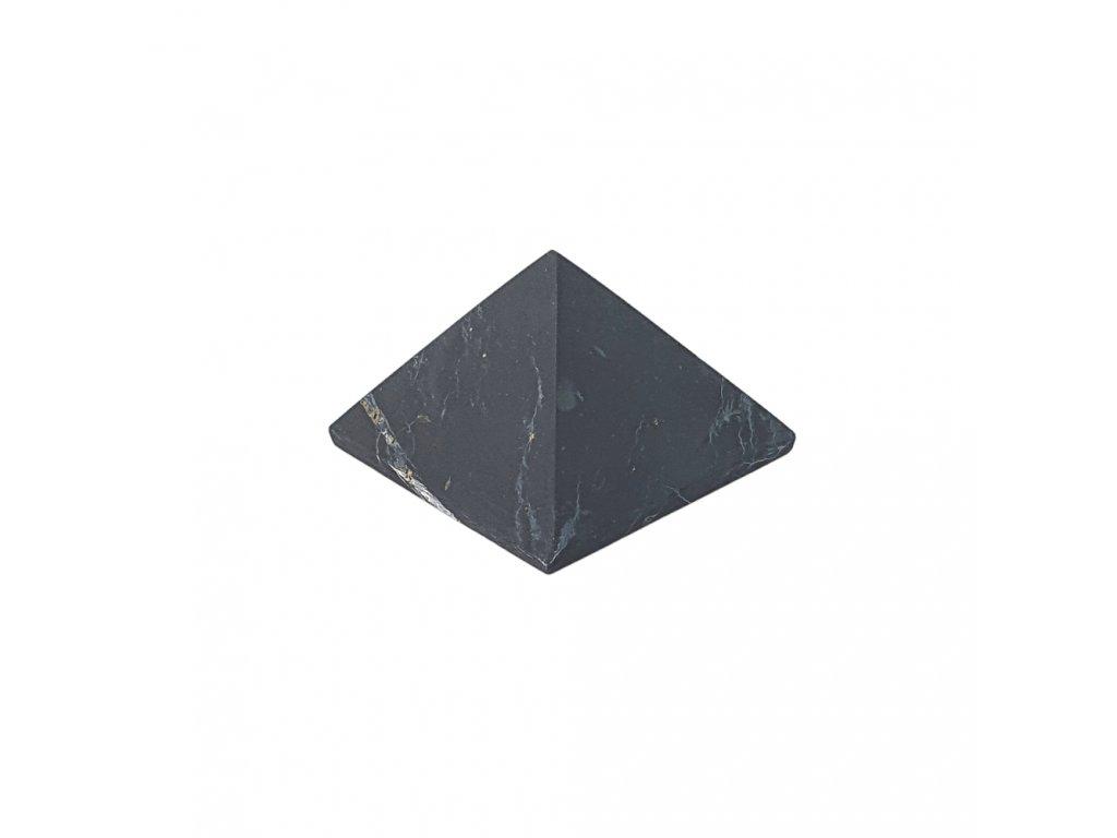 Šungitová pyramída neleštená 3x3cm