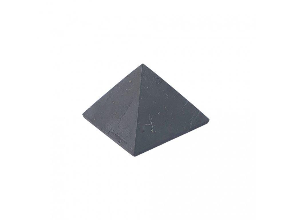 Šungitová pyramída neleštená 4x4cm