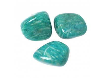 Amazonit kameň tromlovaný