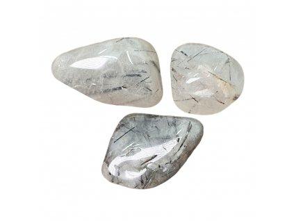 Kryštál s turmalínom kameň tromlovaný
