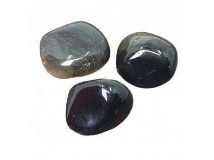 Obsidián kameň tromlovaný