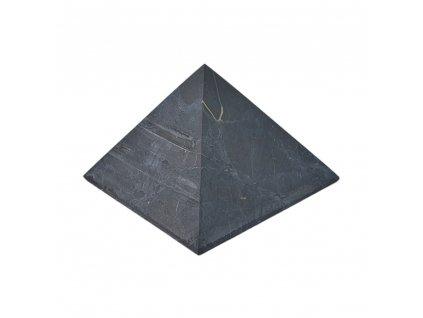 Šungitová pyramída neleštená 6x6cm