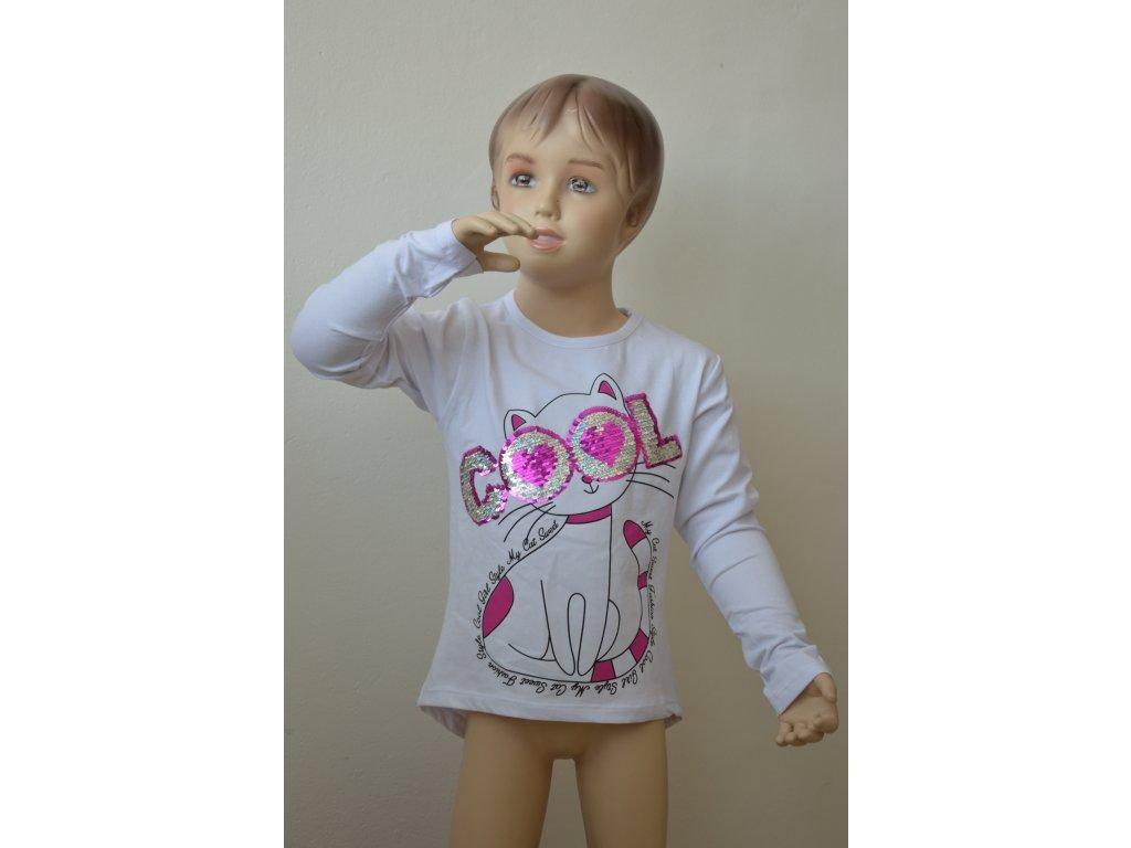 Dívčí triko s měnícím obrázkem