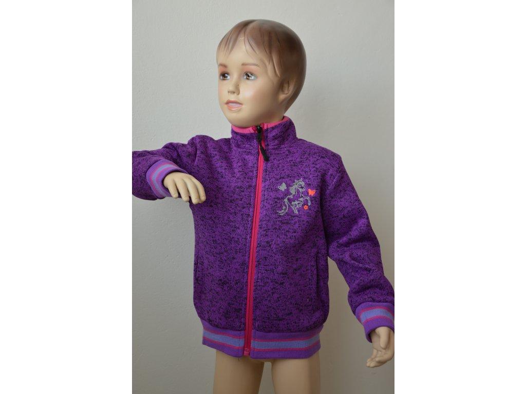 Dívčí mikina Kugo outdoorová fialová