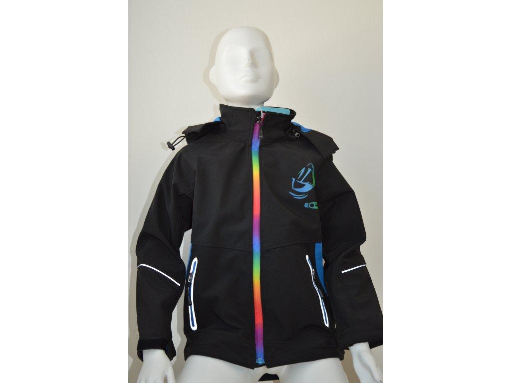 Chlapecká softshellová bunda Kugo - černá