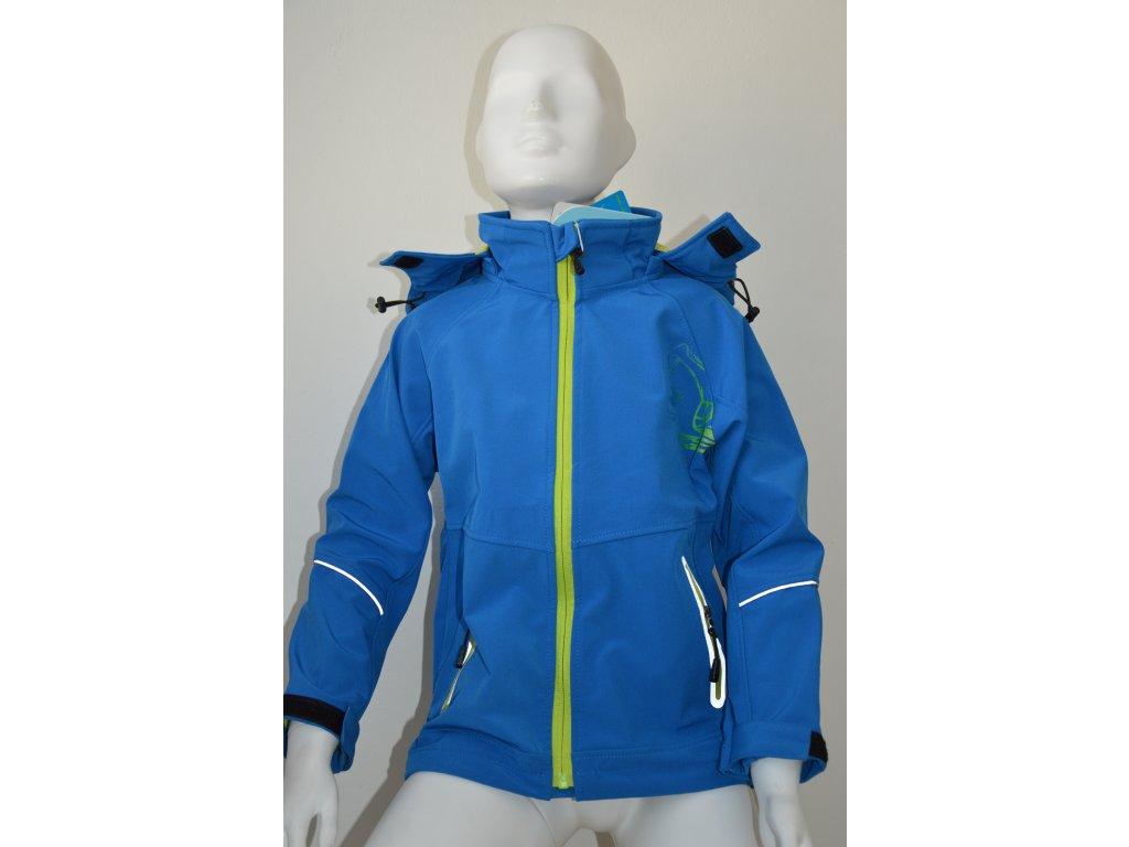 Chlapecká softshellová bunda Kugo - modrá