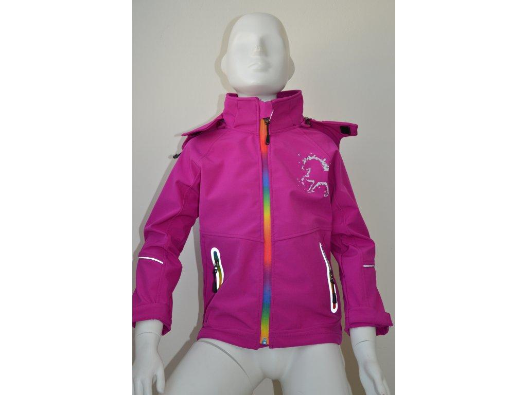 Dívčí softshellová bunda Kugo - růžová