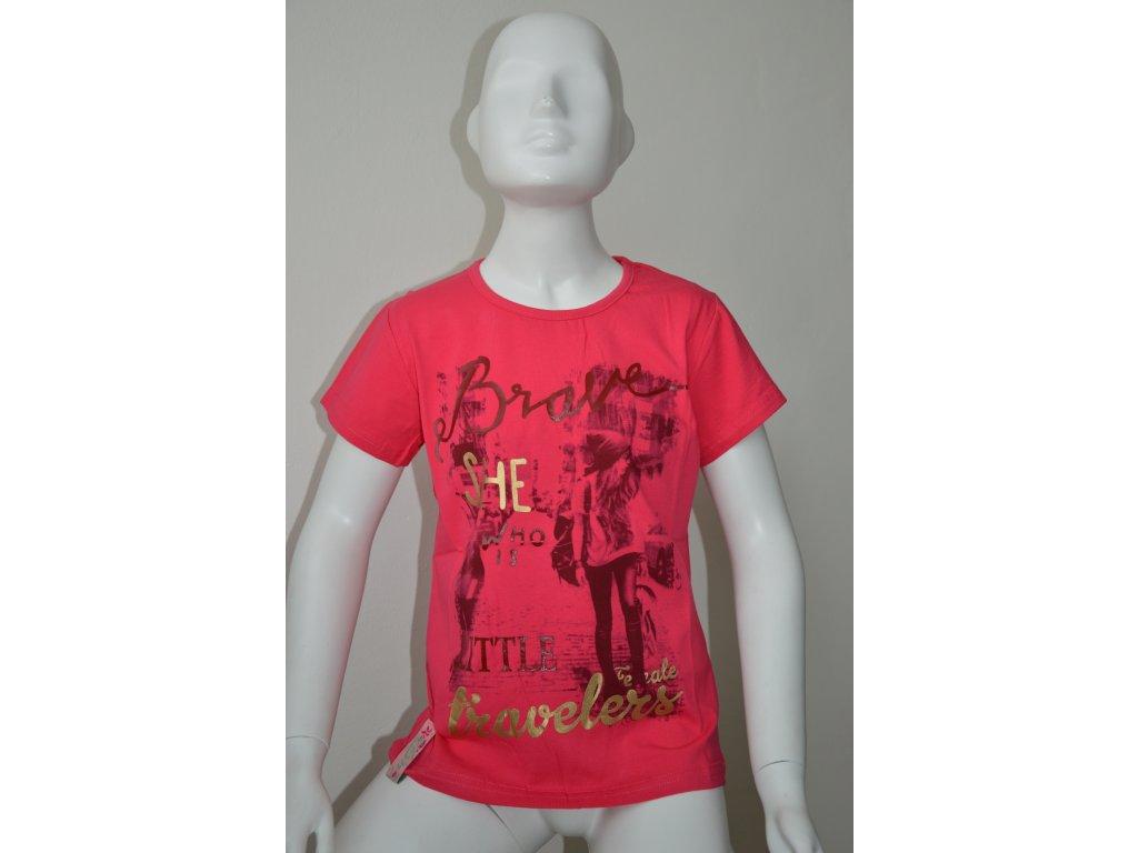 Dívčí triko s moderním vzorem zn. Kugo