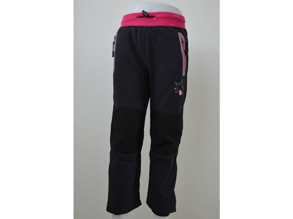 Dívčí zateplené softshellové kalhoty Kugo