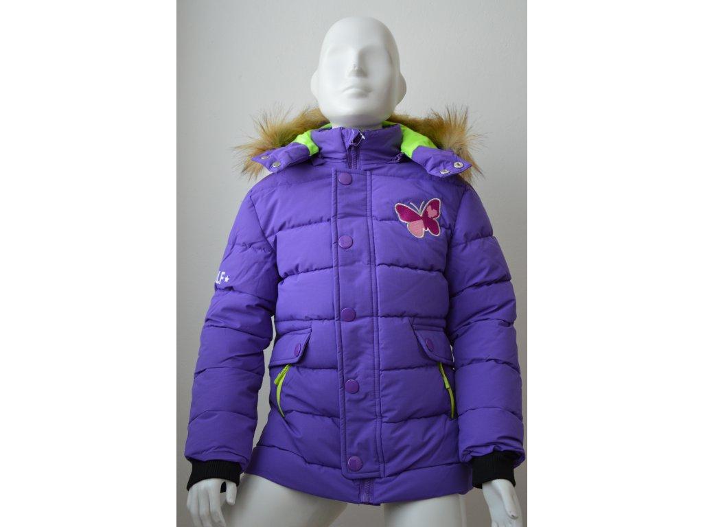 Dívčí zimní bunda Wolf fialová