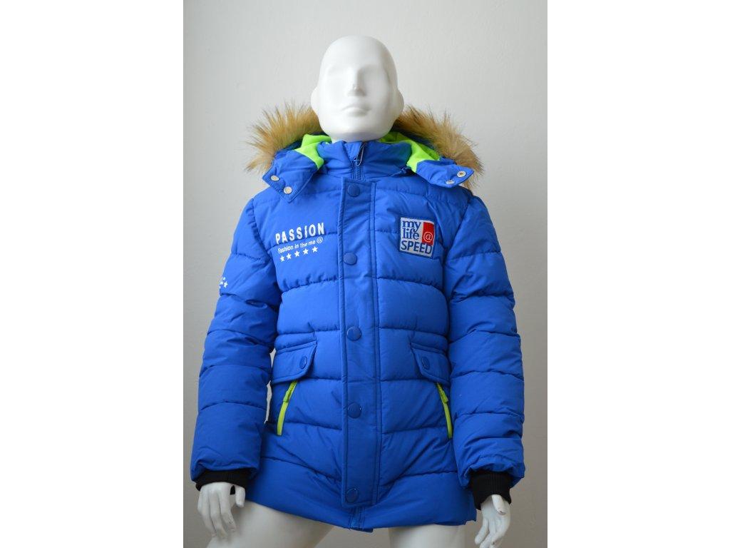 Chlapecká zimní bunda Wolf modrá