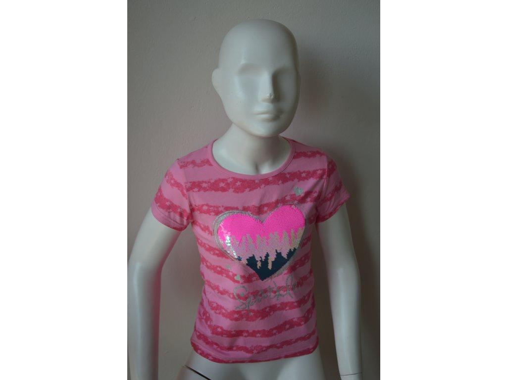 Dívčí triko s kulatým výstřihem a měnícím se obrázkem zn. Kugo