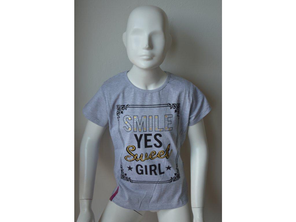 Dívčí moderní triko zn. Kugo s kulatým výstřihem.