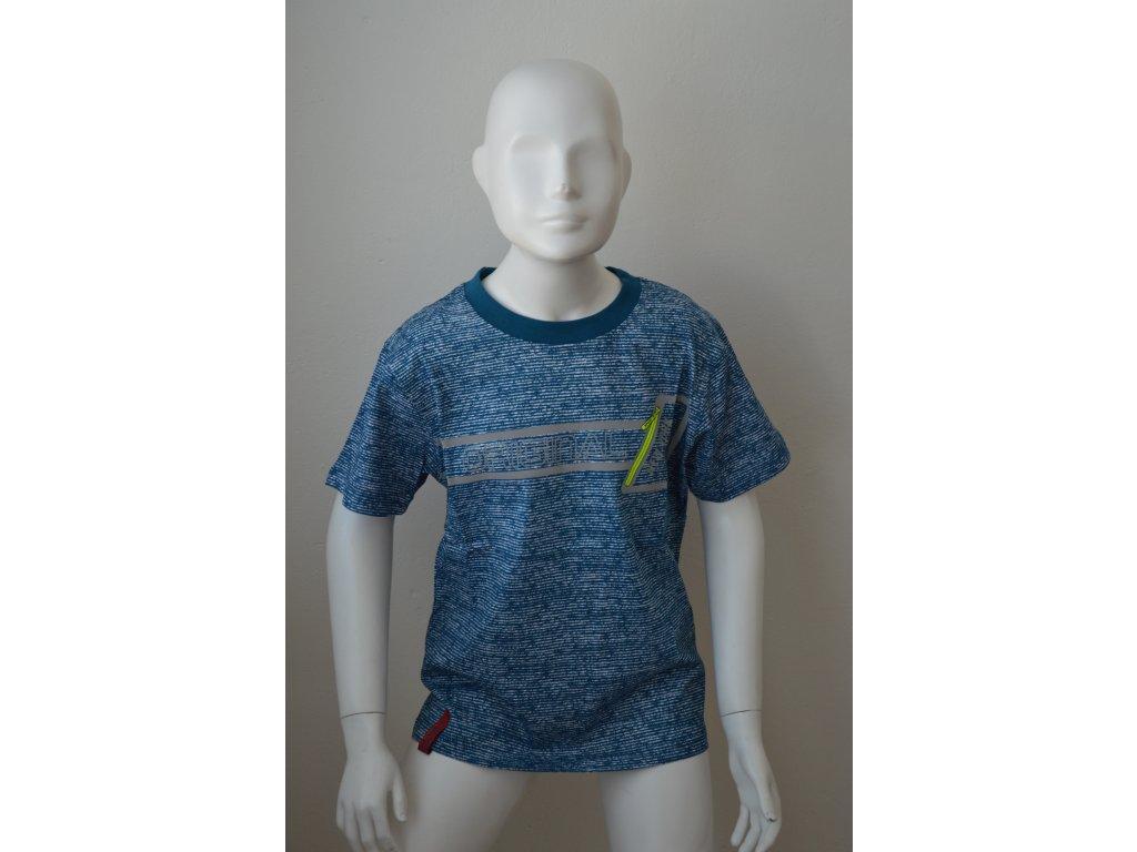 Chlapecké sportovní triko Kugo s neonovými doplňky