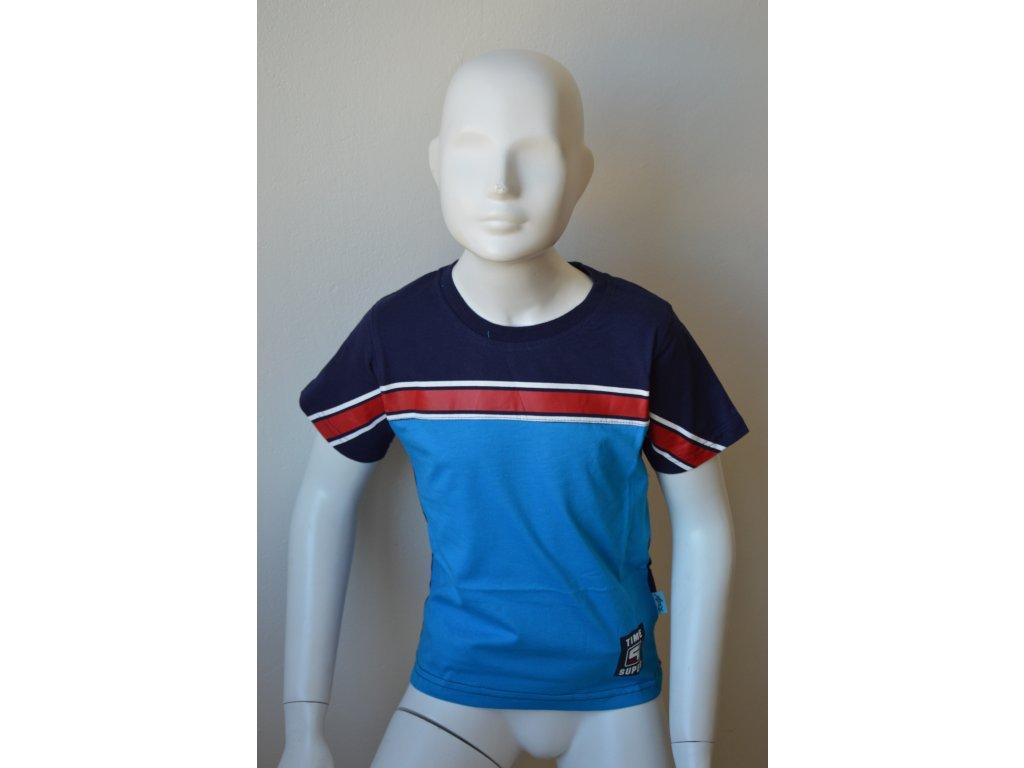 Chlapecké triko Kugo v tříbarevném provedení