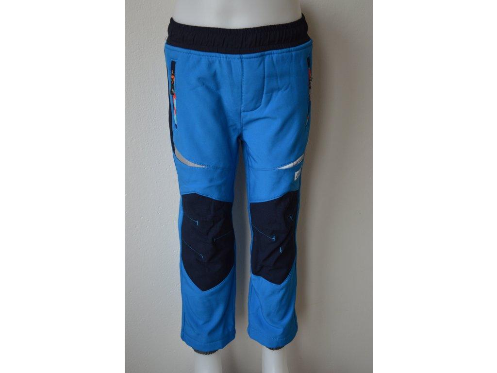 Dětské softshellové zateplené kalhoty Wolf - modré
