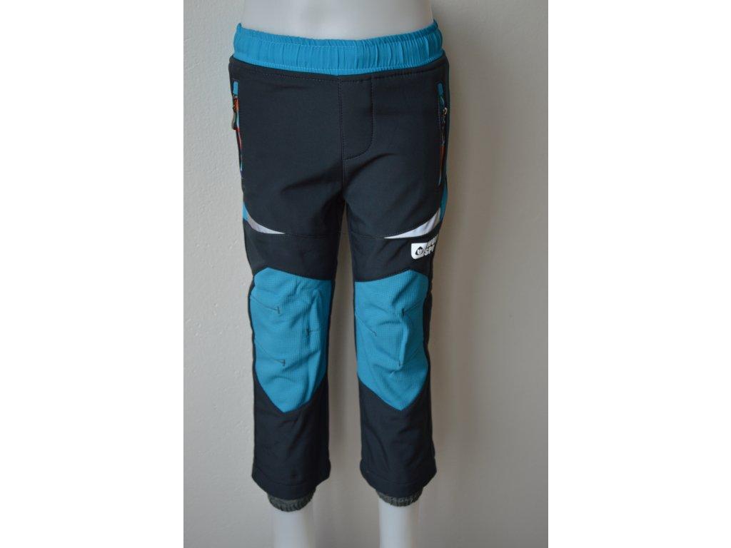 Dětské softshellové zateplené kalhoty Wolf - šedé