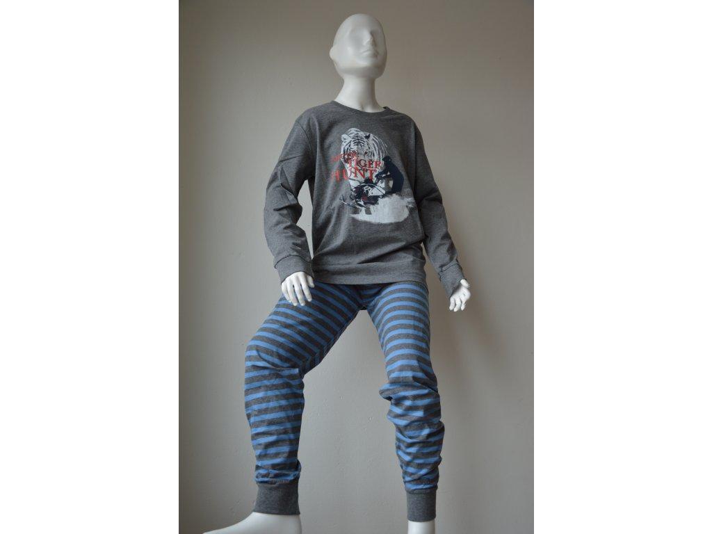 Dorostenecké chlapecké pyžamo Wolf - modré