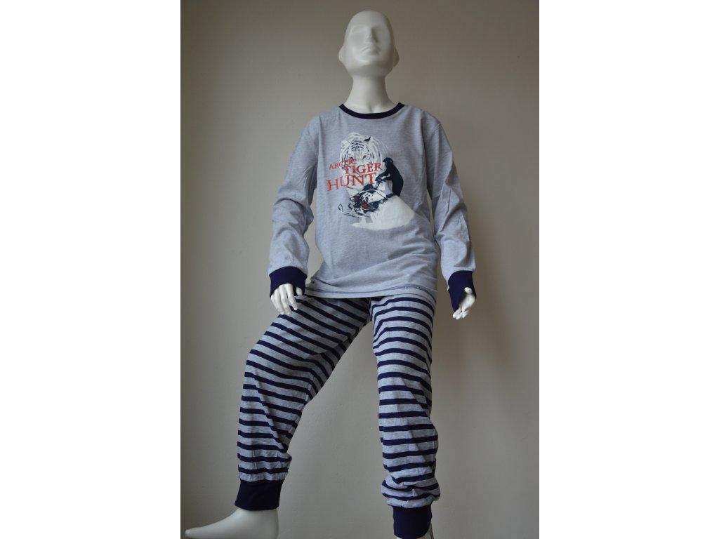 Dorostenecké chlapecké pyžamo Wolf - šedé